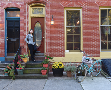 Stephanie Bowe likes that she can bike to work from her new home in Union Square.